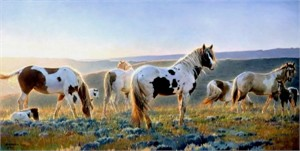 "Nancy Glazier Handsigned & Numbered Limited Edition Giclee on Canvas:""Welcome the Dawn """