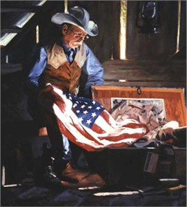 "Bruce Greene Handsigned & Numbered Limited Edition Giclee on Canvas:""Colors Of Courage"""