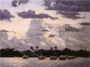 """Julia Rogers Handsigned & Numbered Limited Edition Canvas Giclee:""""Sundowner"""""""