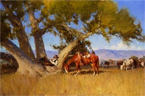 """Bill Anton Handsigned & Numbered Limited Edition Giclee on Canvas:""""Cottonwood Dreams"""""""