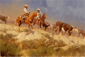 """Bill Anton Handsigned & Numbered Limited Edition Giclee on Canvas:""""Off the Rimrock """""""