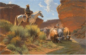 "Bill Anton Handsigned & Numbered Limited Edition Giclee on Canvas:""Arroyo Respite"""