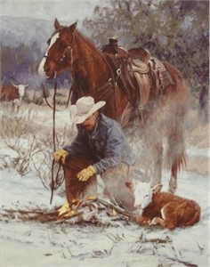 "Bruce Greene Artist Signed Open Edition Giclee on Canvas:""Early Arrival"""