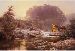 "Bob Wygant Hand Signed and Numbered Limited Edition Giclee on Canvas: ""Pale Morning Mist """