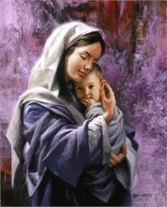 """James Seward Open Edition Print on Canvas:""""Mother and Child"""""""
