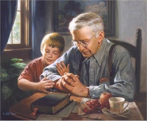 "James Seward Open Edition Print on Canvas:""The Prayer"""