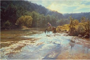 "Bob Wygant Handsigned and Numbered Limited Edition Giclee on Canvas: ""Refreshing Moment"""