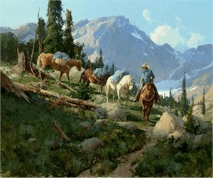 """Bill Anton Hand Signed and Numbered Limited Edition Giclee on Canvas:""""Golden Lakes"""""""