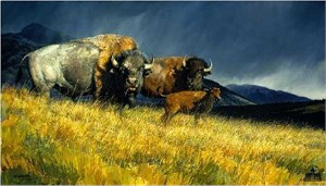 "Nancy Glazier Handsigned & Numbered Limited Edition Giclee on Paper and Canvas:""Stormy"""