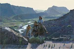 """Ragan Gennusa Hand Signed and Numbered Limited Edition Canvas: """"Texas Trails"""""""