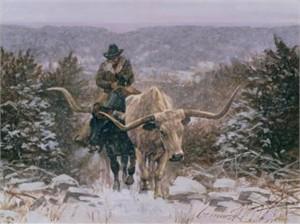 """Ragan Gennusa Open Edition Canvas: """"Climbing Through the Cold """""""