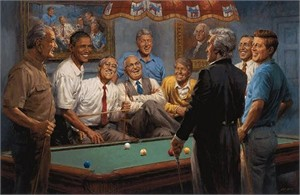 """Andy Thomas Handsigned and Numbered Limited Edition Giclee:""""Callin' the Red"""""""
