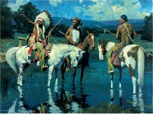 "David Mann Handsigned and Numbered Limited Edition:""Lakota Moon"""