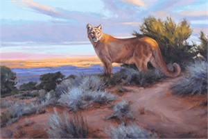 "Edward Aldrich Artist Hand Signed Limited Edition Giclee on Paper and Canvas:""His Territory"""