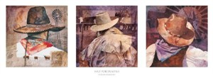 "Linda Loeschen Fine Art Giclee on Canvas Open Edition: ""Hat Portraits I"""