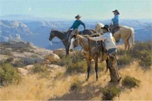 """Bill Anton Hand Signed and Numbered Limited Edition Giclee Print:"""" Wild and Rugged """""""