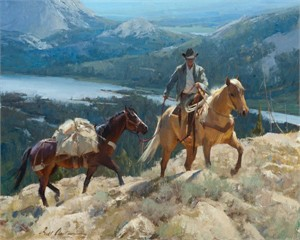 "Bill Anton Hand Signed and Numbered Limited Edition Giclee: ""Over the Pass """