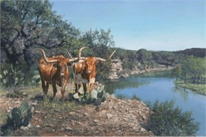 "Ragan Gennusa  Hand Signed and Numbered Limited Edition Giclee on Paper and Canvas: ""Lone Star Legacy"""