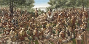 """James Seward Handsigned and Numbered Limited Edition Print : """"All Were Satisfied """""""