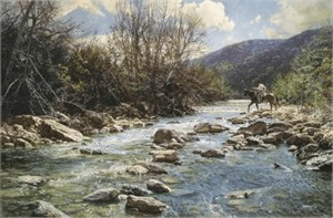 "Bob Wygant Handsigned and Numbered Limited Edition Giclee on Canvas : ""Upper Frio"""