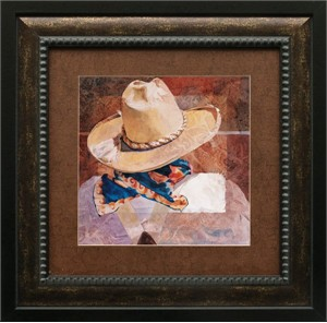 """Linda Loeschen Brushstroked Textured Matted and Framed Art Print: """"The Dandy"""""""