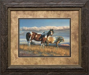 "Nancy Glazier Brushstroked Textured Matted and Framed Art Print: ""The Painted Desert"""