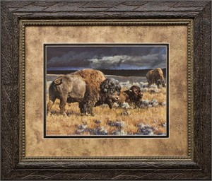 "Nancy Glazier Brushstroked Textured Matted and Framed Art Print: ""Restless"""