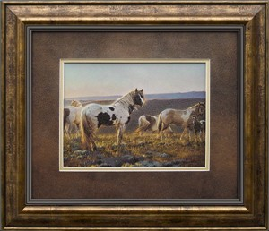 "Nancy Glazier Brushstroked Textured Matted and Framed Art Print: ""Welcome the Dawn"""