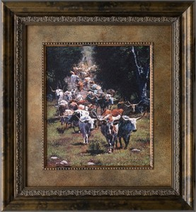 "Ragan Gennusa Brushstroked Textured Matted and Framed Art Print: ""Texas Trails"""