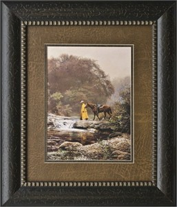 """Bob Wygant Brushstroked Textured Matted and Framed Art Print: """"Pale Morning Mist"""""""