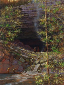 """Doug Hall Artist Hand Signed Limted Edition Canvas Giclee:""""Council Bluff"""""""