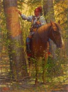 "Doug Hall Artist Hand Signed Limted Edition Canvas Giclee:""Wilderness Message"""