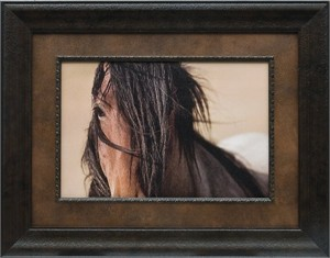 "Kimerelee Curyl Brushstroked Textured Matted and Framed Art Print: ""Freedom Wind"""