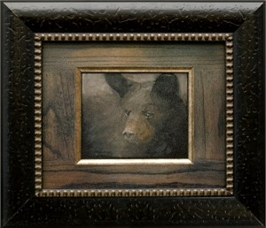 "Mary Roberson Brushstroked Textured Matted and Framed Art Print: ""Cub"""