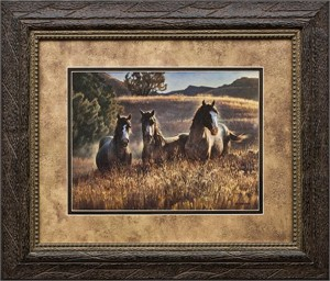 """Nancy Glazier Brushstroked Textured Matted and Framed Art Print: """"Amazing Grays III"""""""