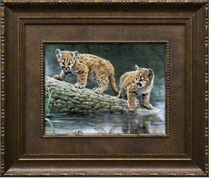 "Charles Frace Brushstroked Textured Matted and Framed Art Print: ""Reflections"""