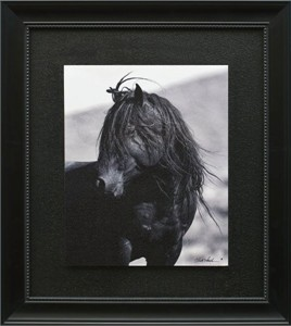 "Claude Steelman Brushstroked Textured Matted and Framed Art Print: ""Wild Stallion III (Untamed Spirit)"""