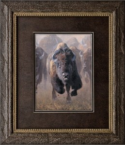 "Kyle Sims Brushstroked Textured Matted and Framed Art Print: ""Full Throttle"""