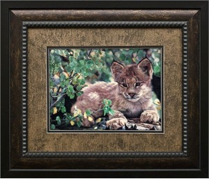 """Charles Frace Brushstroked Textured Matted and Framed Art Print: """"Hideaway"""""""
