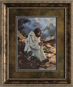 "Michael Dudash Brushstroked Textured Matted and Framed Art Print: ""Not by Bread Alone"""