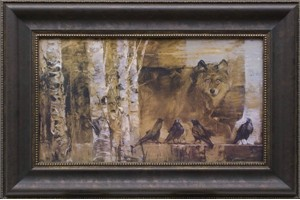 """Mary Roberson Brushstroked Textured Matted and Framed Art Print: """"If you Watch the Ravens for a While"""""""