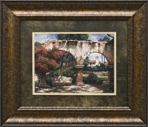 """George Hallmark Brushstroked Textured Matted and Framed Art Print: """"The Jewel"""""""