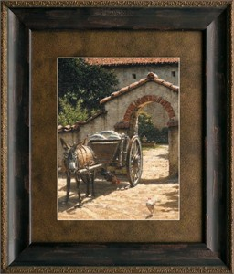 """George Hallmark Brushstroked Textured Matted and Framed Art Print: """"Blessings from Above"""""""