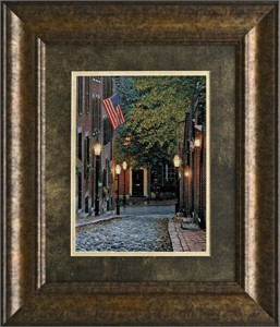 """Rod Chase Brushstroked Textured Matted and Framed Art Print: """"Old Glory"""""""