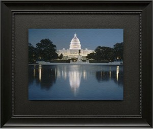 "Rod Chase Brushstroked Textured Matted and Framed Art Print: ""America! America!"""