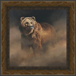 "Edward Alrich Framed 50x50 OverSized Limited Edition Canvas Giclee:""Hunter's Gaze"""