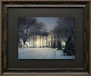 "Rod Chase Brushstroked Textured Matted and Framed Art Print: ""America's Home"""