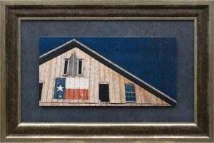 "Howard Eberle Brushstroked Textured Matted and Framed Art Print: ""Lone Star Blue"""