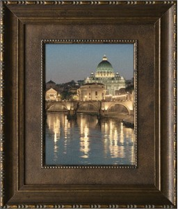 """Rod Chase Brushstroked Textured Matted and Framed Art Print: """"The Glory of San Pietro"""""""