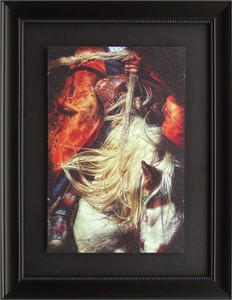 """Karen Kelly Brushstroked Textured Matted and Framed Art Print: """"In Control"""""""